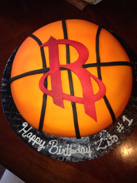 Last Year My Husbands Houston Rockets Birthday Cake