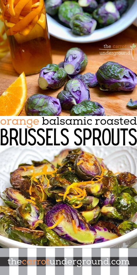Orange Balsamic Roasted Brussels Sprouts