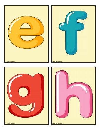 uppercase & lowercase English alphabet free Flash Cards