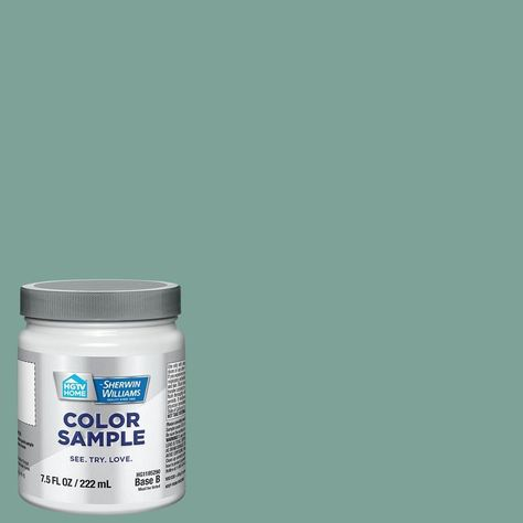 Composed Teal Interior Paint Sample (Half Pint) HGTV HOME by Sherwin-Williams Composed Teal Interior Paint Sample (Half Pint) in Hgsw | HGSW2304