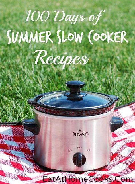 100 Days of Summer Slow Cooker Recipes  I haven't checked out the site yet but the concept is appealing!