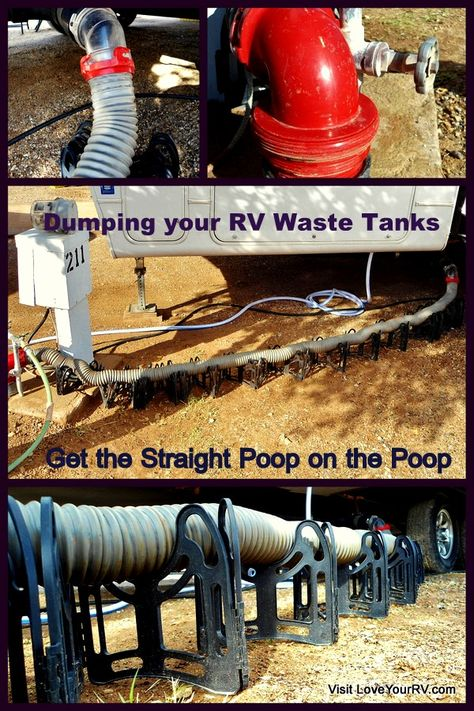 RV Sewer Dumping. Yes we all have to do it at some point. It's the right of passage into the RV world. Everyone in the park loves to watch the newbie with the brand new sewer hose figuring out the procedure for the first time. If you're a new RVer and looking for some advice and tips then this blog post is for you.  I'll let you know how I do the deed and what equipment  I use. http://www.loveyourrv.com/rv-sewer-dumping-the-straight-poop-on-the-poop/  #RV #RVing #Sewer #Tips