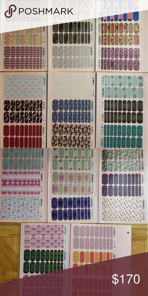 Jamberry Lot Of 33 Full Sheets 33 full sheets of Jamberry nail wraps. Smoke/Pet free home. Jamberry Other