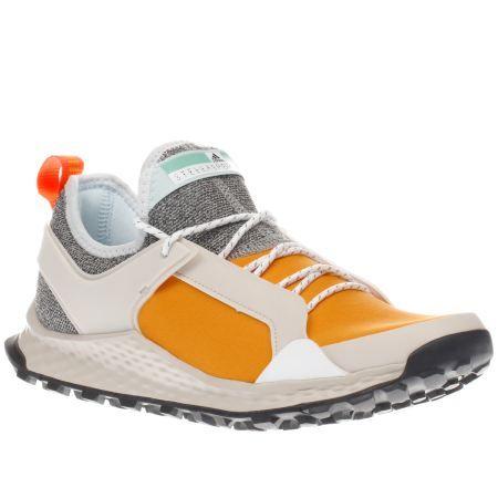womens adi stella sport white & orange alexi x trainers | footwear |  Pinterest | Trainers, Orange trainers and Sports trainers