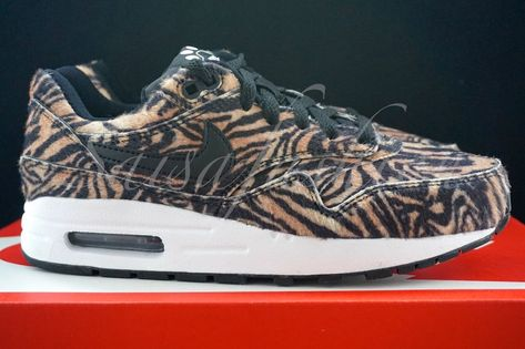 9f2a5955f764 Rare DS Nike Air Max 1 GS Zoo Wild Pack Tiger fur  827657-200 Sz 5.5Y  Women s 7  fashion  clothing  shoes  accessories  kidsclothingshoesaccs   unisexshoes ...