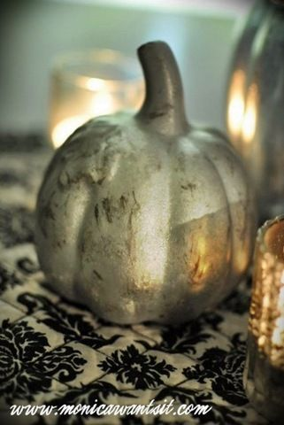 How To Create Your Own Mercury Glass Pumpkins Glass Pumpkins