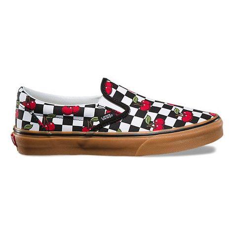 Vans Classic Slip On Shoes (cherries)