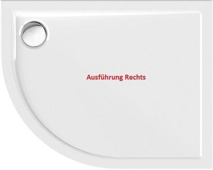 Duschtasse Rund Superflach 100 X 80 X 2 5 Cm R55 Wannentrager