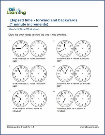 Elapsed Time Worksheets Grade 3 Elapsed Time Worksheets Time Worksheets Telling Time Worksheets Time and calendar worksheets