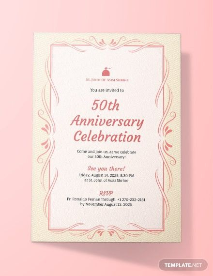 50th Anniversary Program Templates 50th Anniversary Invitations Anniversary Invitations 50th Wedding Anniversary Invitations