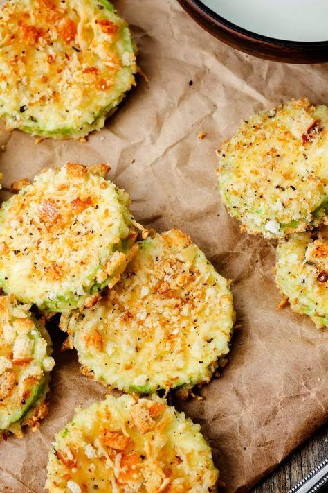 Zucchini-Parmesan-Chips aus dem Ofen: Unbedingt probieren