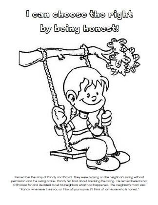 Honesty Coloring Pages I Can Choose The Right Being Honest