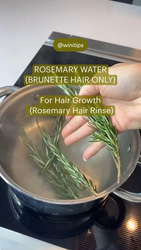 Rosemary Water For Hair Growth (Rosemary Hair Rinse)— BRUNETTE HAIR ONLY