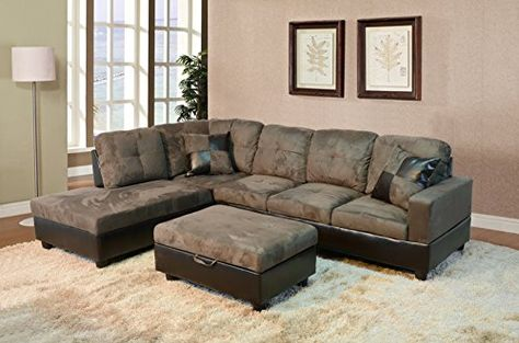Strange Beverly Furniture 3 Piece Microfiber And Faux Leather Beatyapartments Chair Design Images Beatyapartmentscom