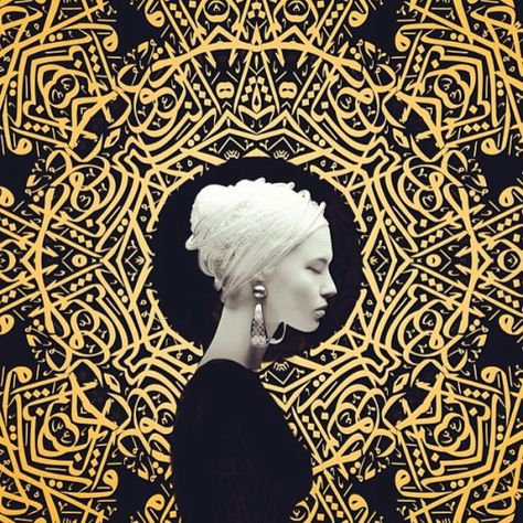 Art by artist Amir Ershadi Pop Art, Art Arabe, Gold Leaf Art, Kunst Online, Iranian Art, Arabic Art, Arabic Design, Art Graphique, Portrait Art