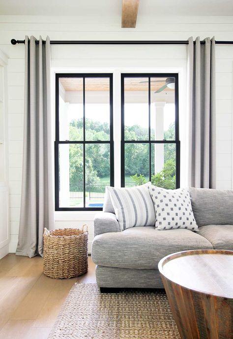 Black vs White Windows - Plank and Pillow
