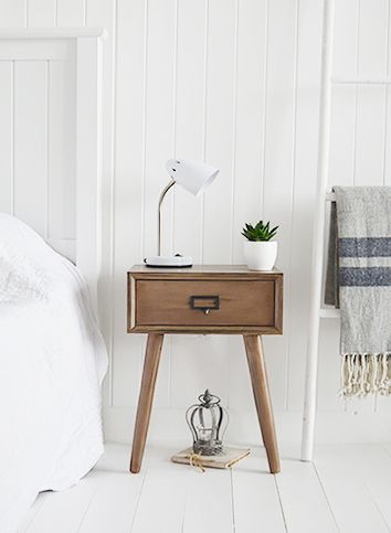 White Bedside Tables Scandi Bedside Table Bedroom Decor Cozy