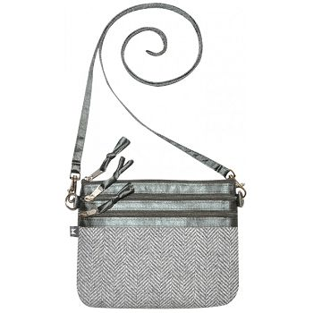 Earth Squared Grey Herringbone Tote Bag