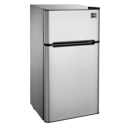Home Mini Fridge With Freezer Stainless Steel Refrigerator Refrigerator