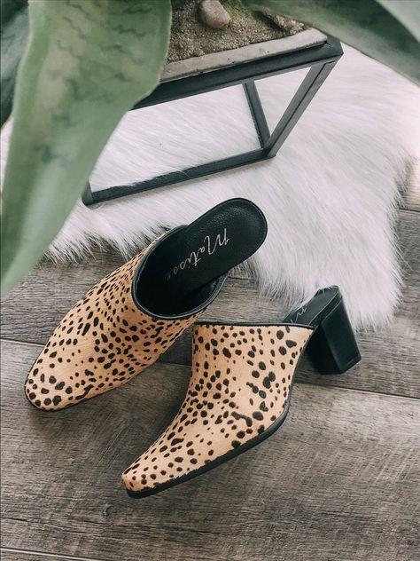 Matisse Leopard Mule Slide   Mules
