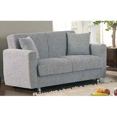 empire furniture usa niagara collection upholstered convertible storage love seat with easy access storage space includes 2 pillows gray