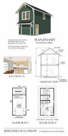 Garage Plans Craftsman Style One Car Two Story Garage With Apartment Plan 714 1apt Garage Plans With Loft House Plans Garage Apartment Plans