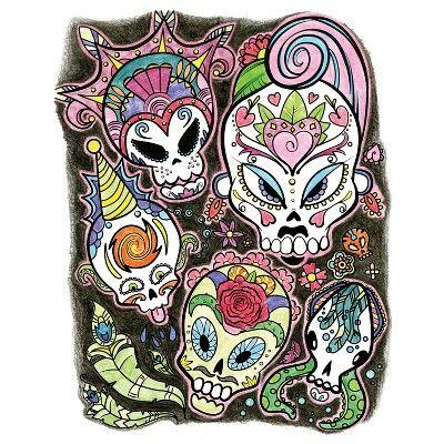 Crayola Art With Edge Sugar Skulls Coloring Book Crayola Art Skull Coloring Pages Coloring Books