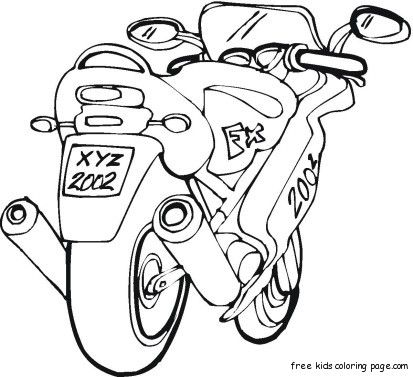 Free Motorbike Colouring Pictures Printable For Kids Coloring Pages Apple Coloring Pages Coloring Pictures