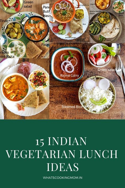 15 Indian Vegetarian Lunch Ideas Lunch Recipes Indian Vegetarian Lunch Vegetarian Recipes Lunch