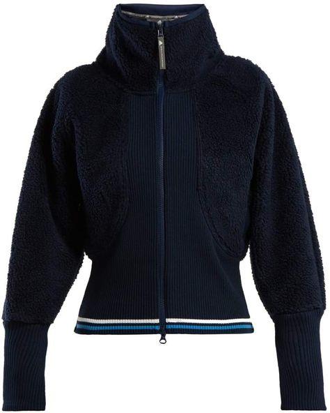 adidas by Stella McCartney Train high-neck fleece jacket  1bd8961cf5a22