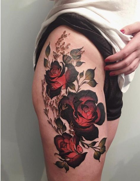 Image Roses tattoo by Corey Bernhardt @ Reclamare Tattoo and Gallery in Sacramento, CA in Rose tattoos album