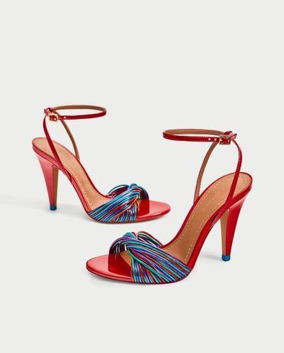 Multicolor Sandalia Tiras RebajasZara Zapatos Mujer Sandalias tQdhCrs