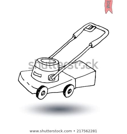 Lawn Mower Vector Illustration Lawn Mower Mower Push Lawn Mower