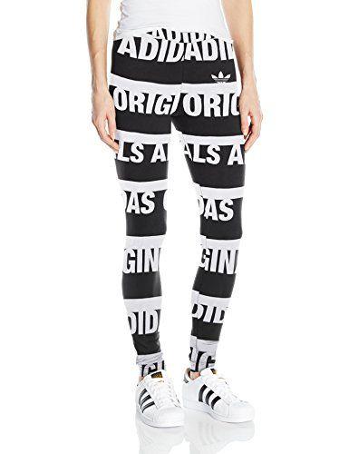 Adidas Originals Womens Linear Leggings Blackwhiteberlin M Read More At The Image Link Note Amazon Affil Adidas Originals Women Leggings Adidas Originals