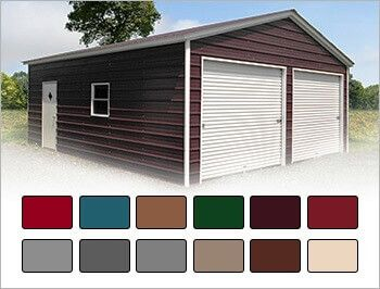 Color Your Metal Building 3d View Color Planner Carport Central Metal Buildings Metal Building Prices Metal Garage Buildings