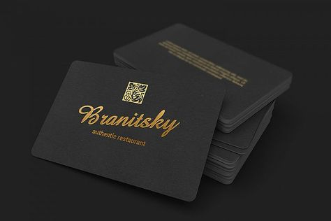 85x55 Black Business Card With Rounded Corners Mockups