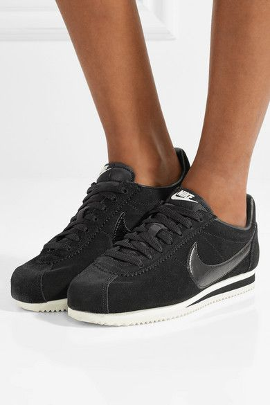 Nike Classic Cortez leather trimmed suede sneakers | Nike