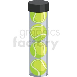 Tennis Ball Tube Vector Clipart Clip Art Vector Clipart Clipart Design