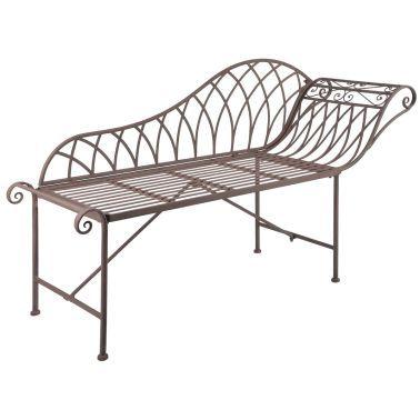 Esschert Design Gartenliege Sitzbank Metall Old English Style Mf016 1 3 Aussenmobel Gartensessel Outdoor Mobel
