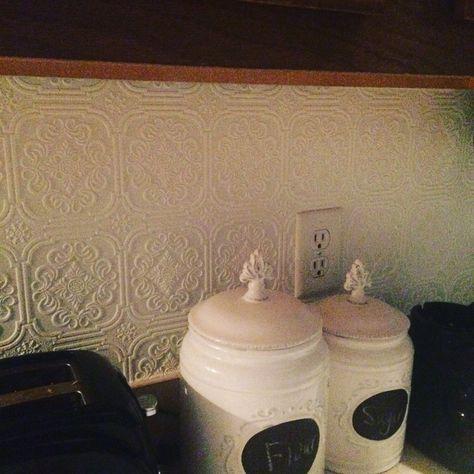 Diy Textured Wallpaper Kitchen