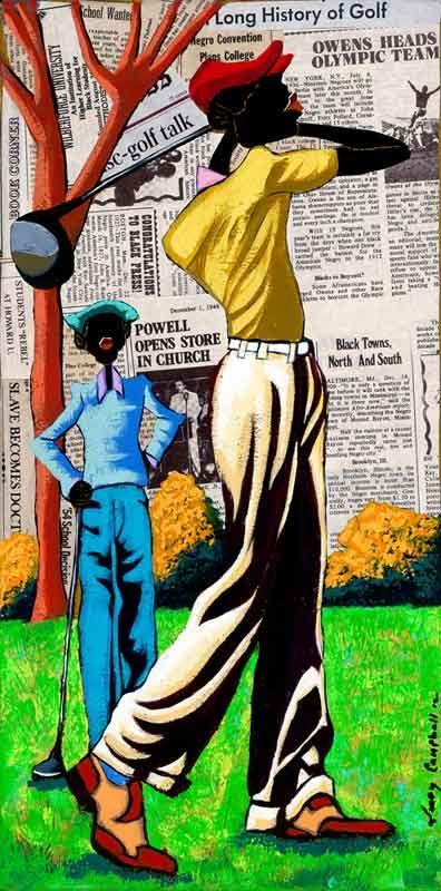 Leroy Campbell Art/Canvas, Mix Media Collage | buster123's collection of  50+ african american artist ideas
