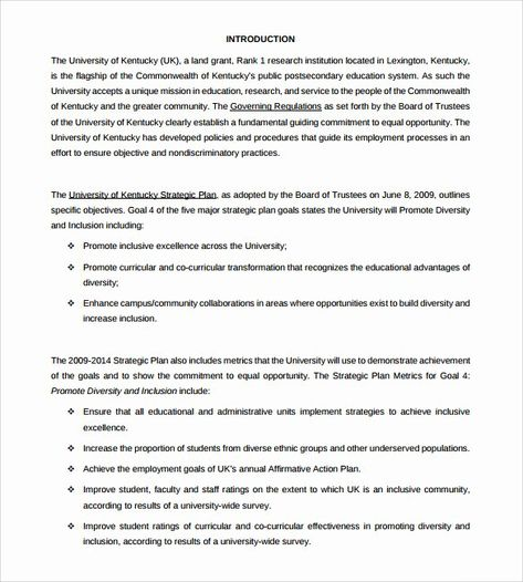 25 Sample Affirmative Action Plan In 2020 Action Plan Template