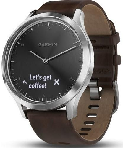 Garmin Watch Vivomove Hr Alarm Yes Bezel Fixed Bracelet Strap Leather Brand Garmin Case Depth 11 6m With Images Watches For Men Brown Leather Strap Brown Leather Band