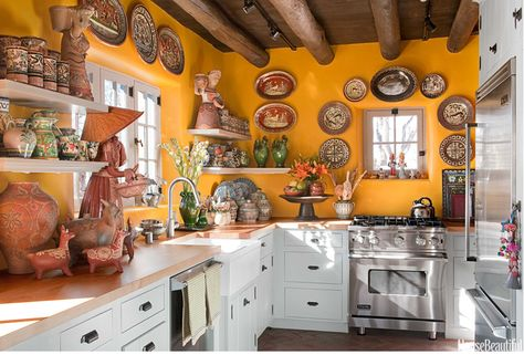 """""""Remake This Room on Ruby Lane"""" - Mexican Folk Art Kitchen 