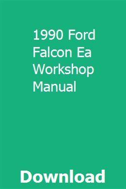 1990 Ford Falcon Ea Workshop Manual Repair Manuals Manual Car Repair