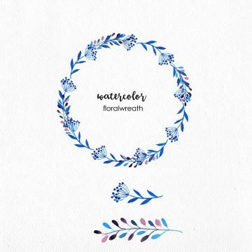 Watercolor Floral Wreath Watercolor Floral Flowers Png