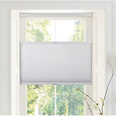 Ivy Bronx Deluxe Top Down Bottom Up Semi Sheer Grey Cellular Shade In 2020 Cellular Shades Shades Blinds Blackout Roman Shades