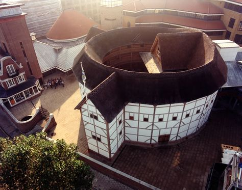 """The Globe theater as it looks today.The theater was opened in 1997 under the name """"Shakespeare's Globe Theatre"""" and now stages plays every summer."""