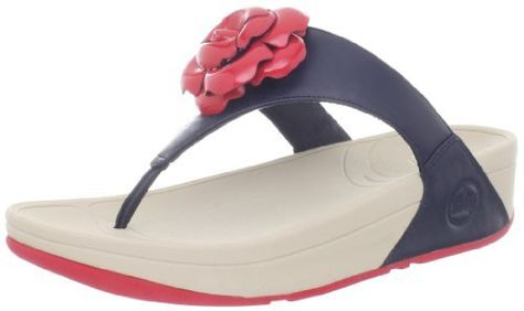 a817b30cc23f FitFlop Women s Florent Thong Sandal FitFlop.  66.95. Flower detail upper.  Rubber sole. leather. Ultra comfortable Microwobbleboard midsole.