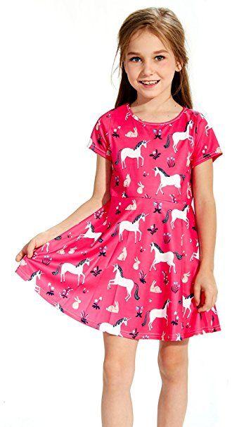Funnycokid Funnycokid Kleider Kinder Madchen Sommer Blumen Kleid 2 9 Jahre Kleider Sommerkleider Madchen Sommer Kleider Kind Girls Dresses Dresses Fashion